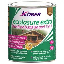 Lac / lazura 3 in 1 pentru lemn, Kober Ecolasure Extra, incolor, pe baza de apa, interior / exterior, 0.75 L