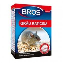 Cereale din grau impotriva soarecilor si sobolanilor, 100 g, BROS 199