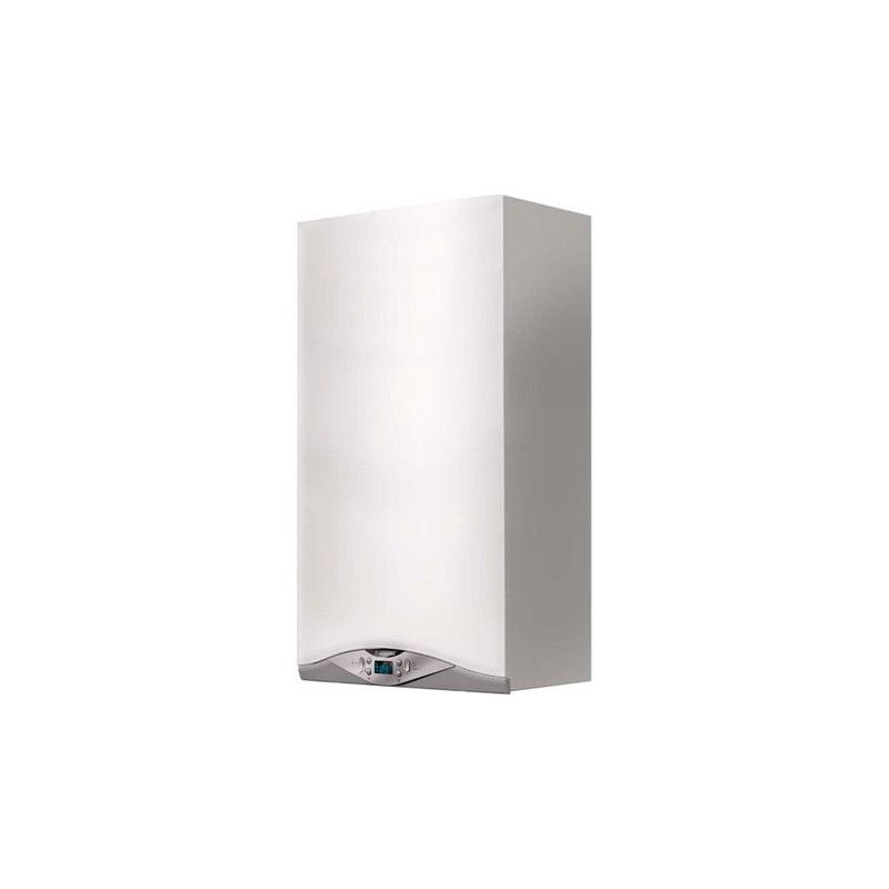 Centrala termica murala in condensare Ariston Cares Premium 24 EU, Gaz, Tiraj fortat, 24 kW, Doua schimbatoare de caldura, Displ