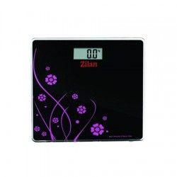 Cantar electronic de persoane Zilan ZLN 7680 negru,platforma sticla,150 kg maxim