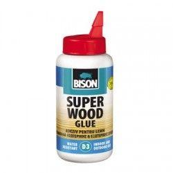 Adeziv pentru lemn Bison Super Wood D3, 750 g, Transparent
