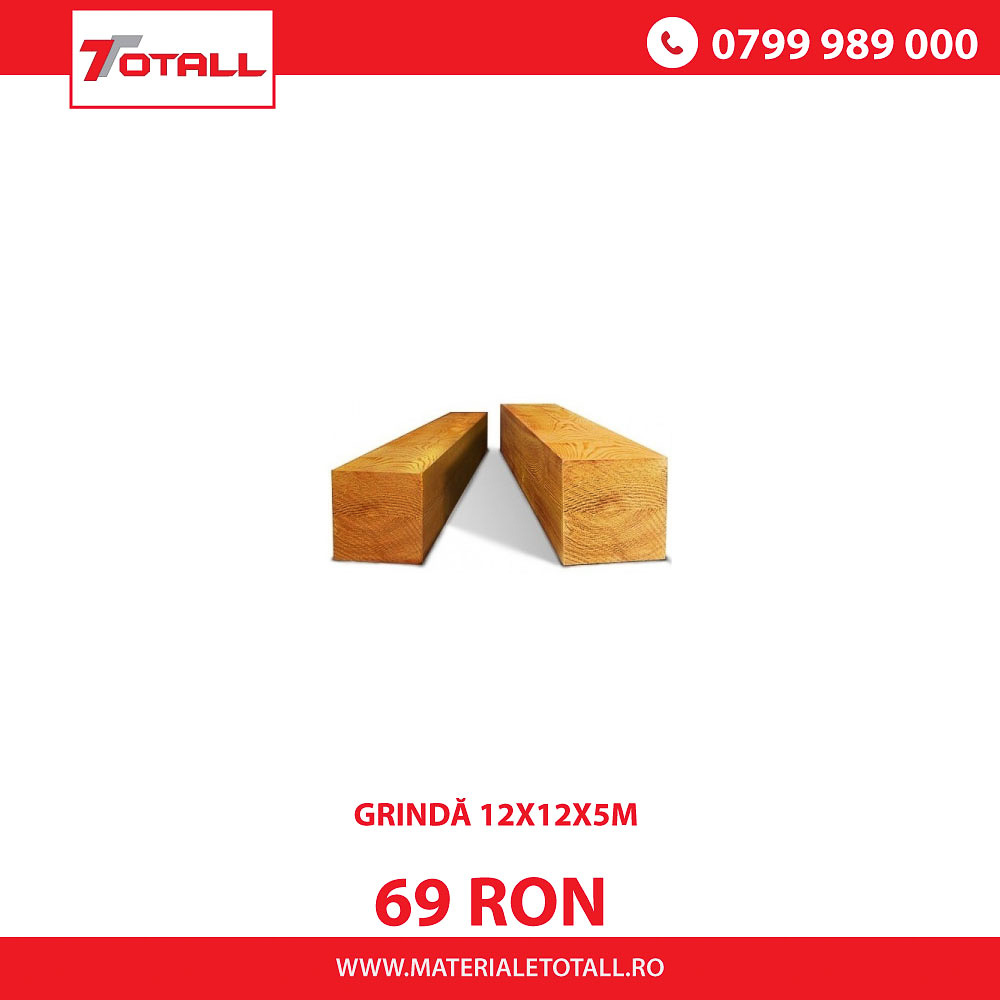GRINDĂ 12X12X5M