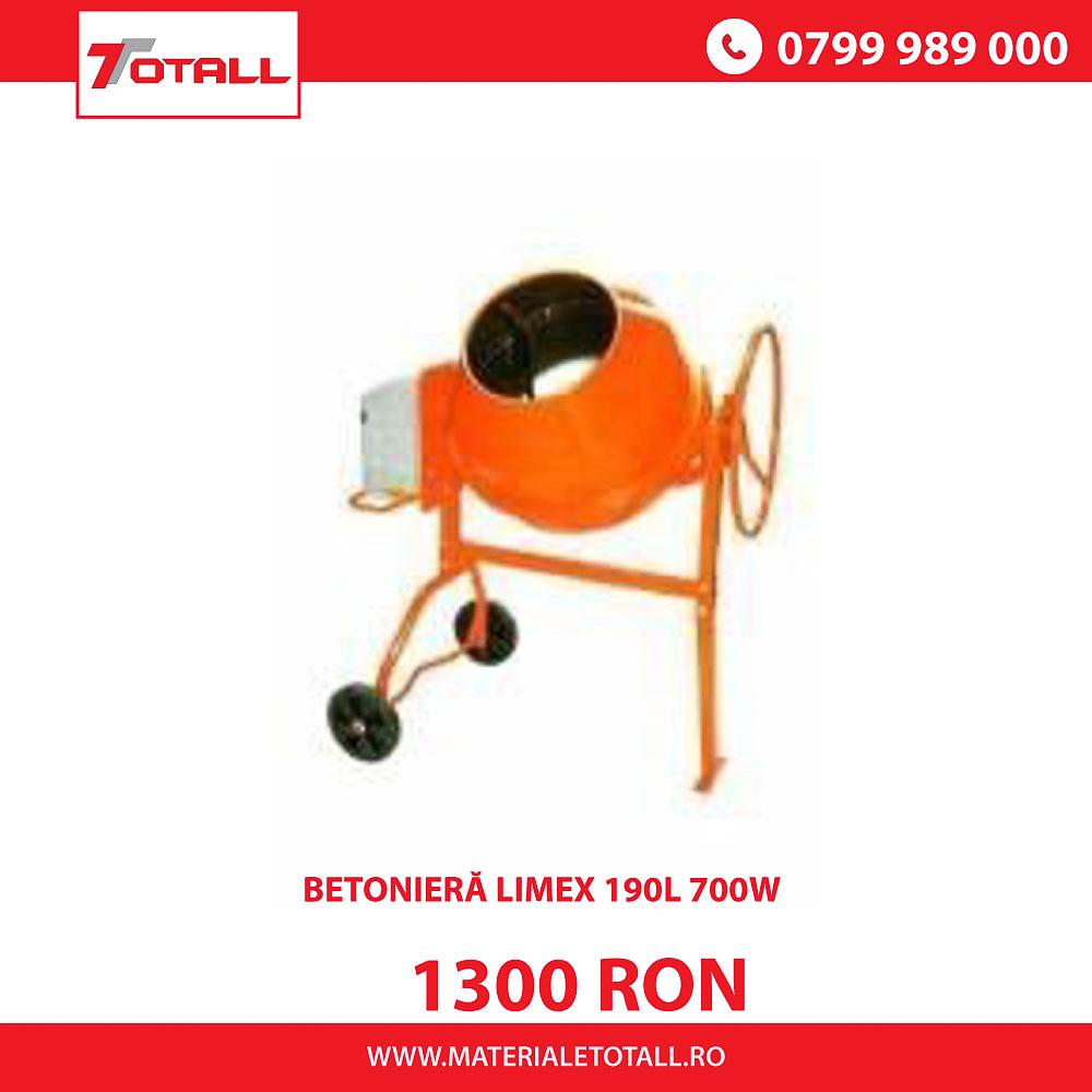 Betonieră Limex 190L 700W