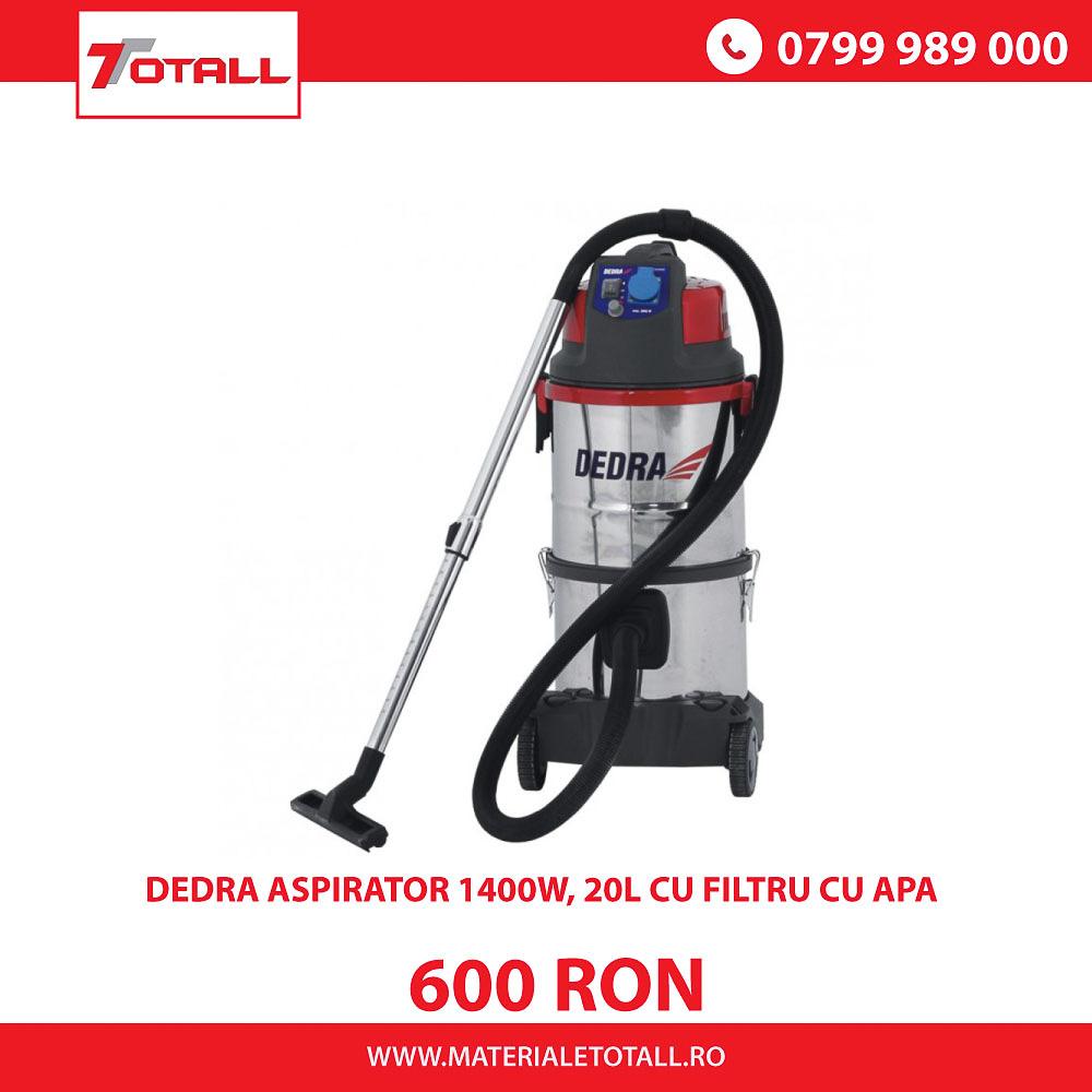 Aspirator industrial cu filtrul de apa, Dedra DED6602, 1400W