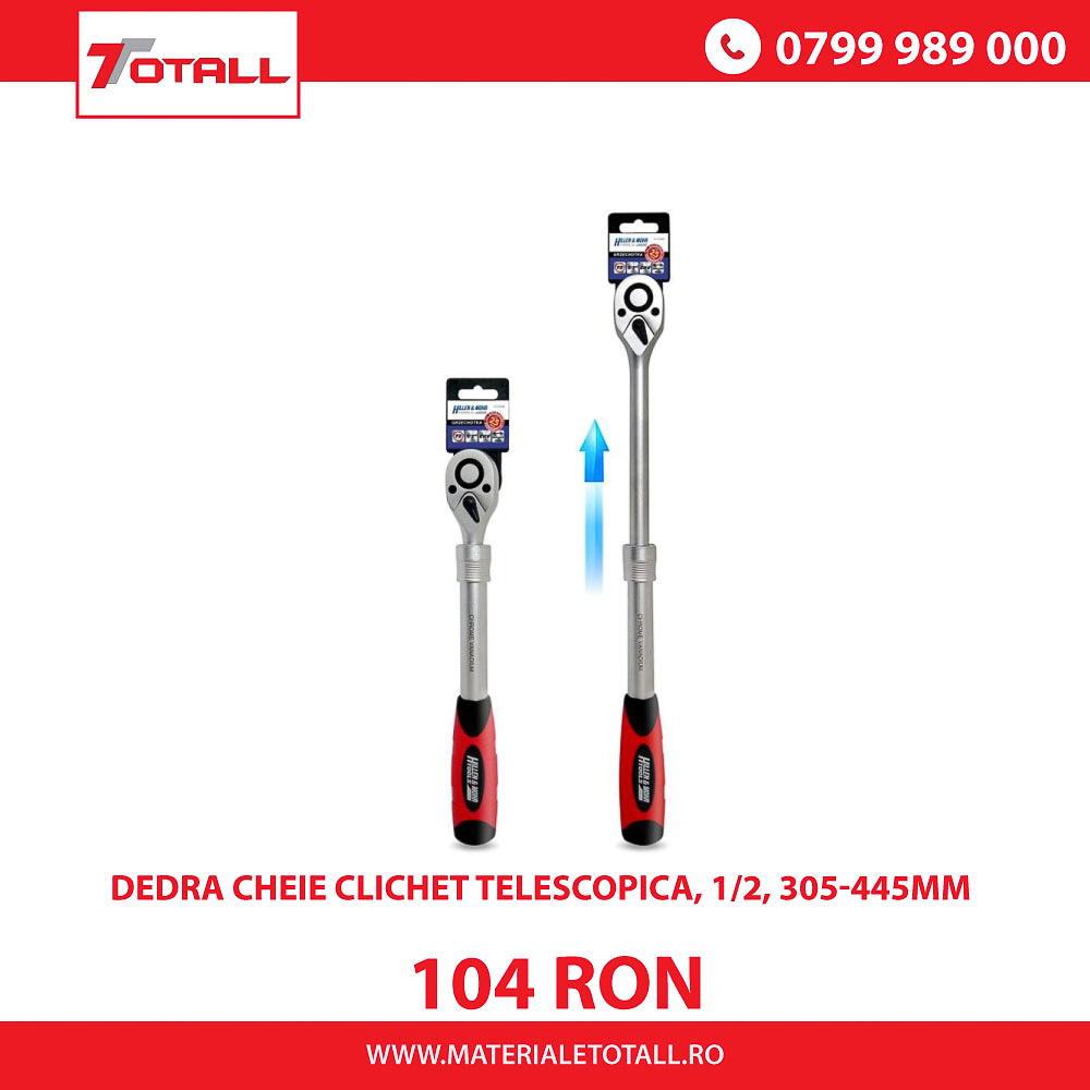 DEDRA CHEIE CLICHET TELESCOPICA, 1/2, 305-445mm